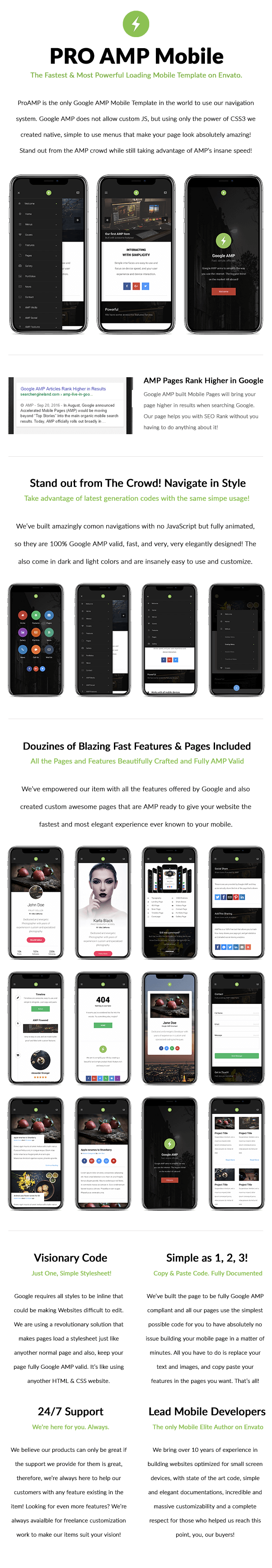 AMP Pro Mobile | Mobile Google AMP Template - 8