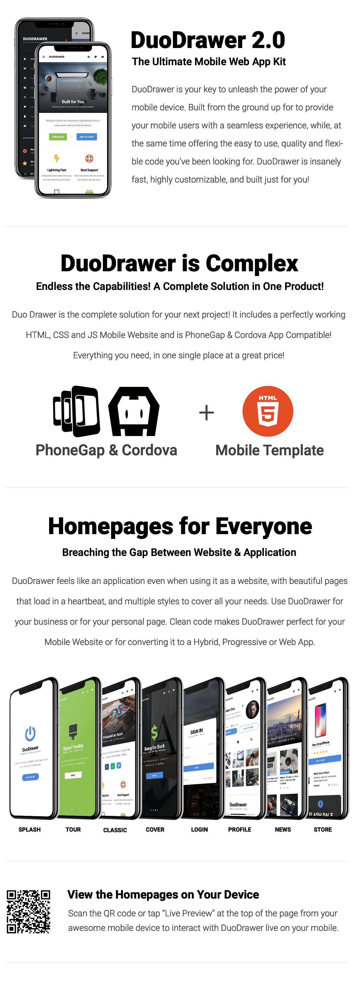 DuoDrawer Mobile   PhoneGap & Cordova Mobile App - 10