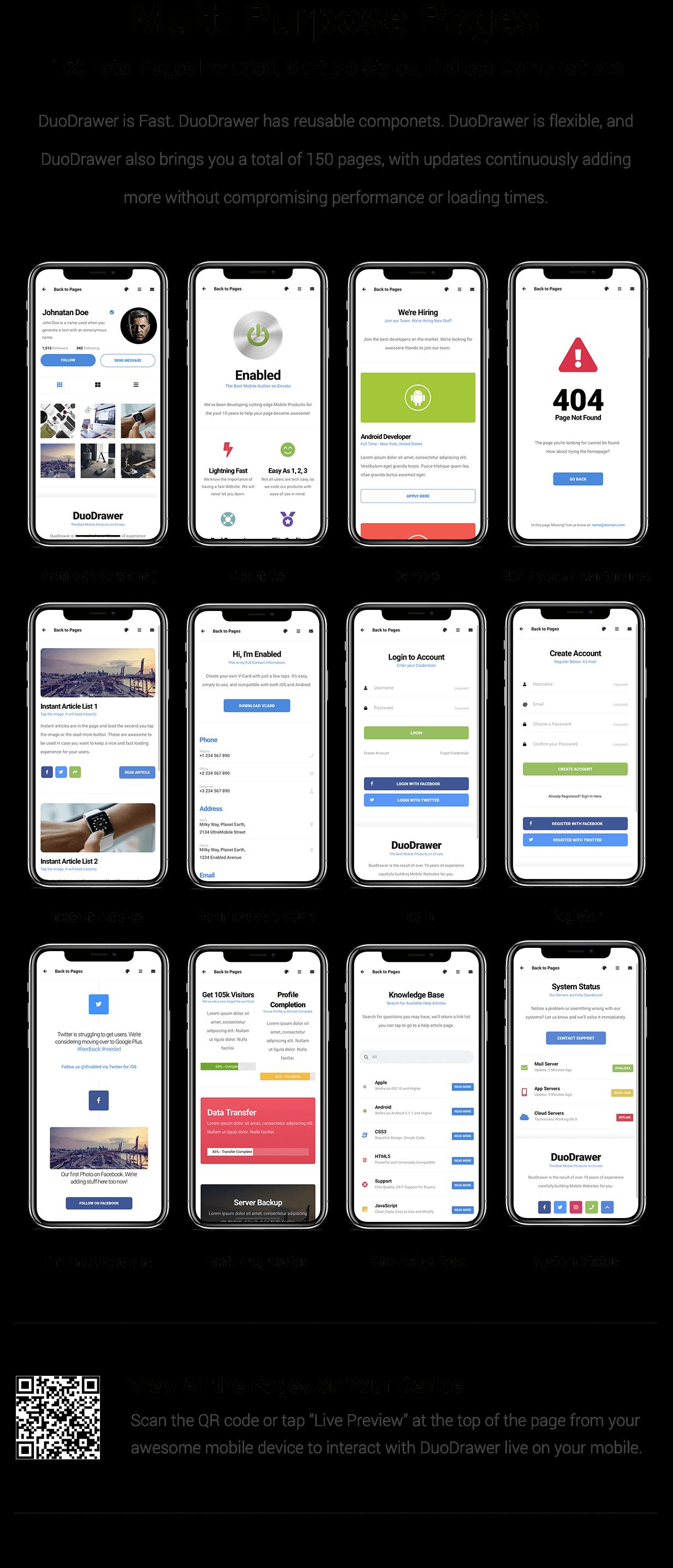 DuoDrawer Mobile   PhoneGap & Cordova Mobile App - 14