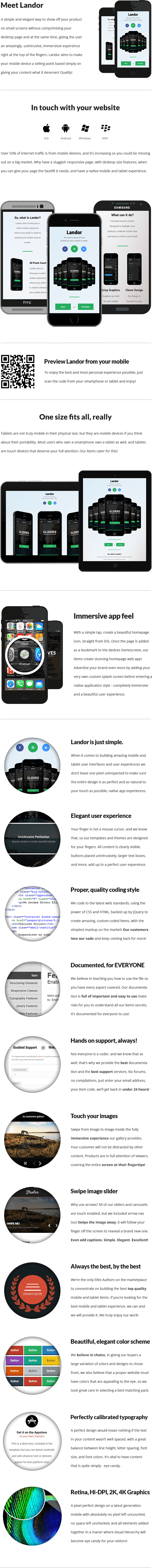 Landor | Mobile & Tablet Responsive Template