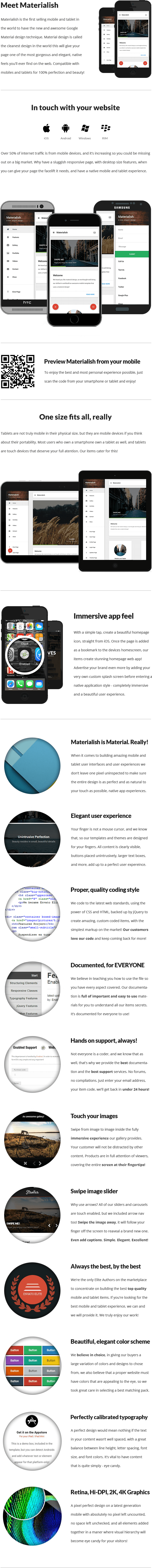Materialish | Mobile & Tablet Responsive Template