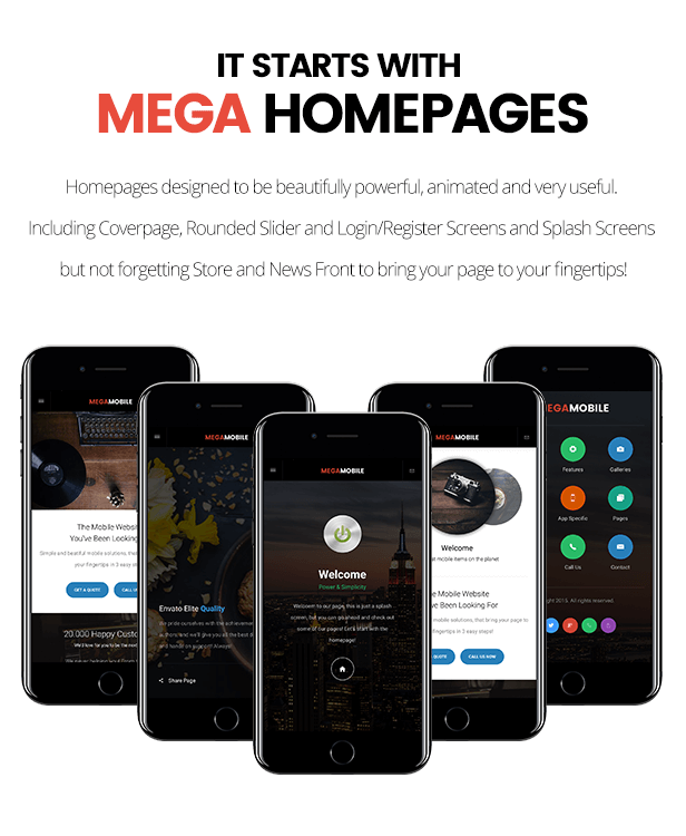 MegaMobile | PhoneGap & Cordova Mobile App - 14