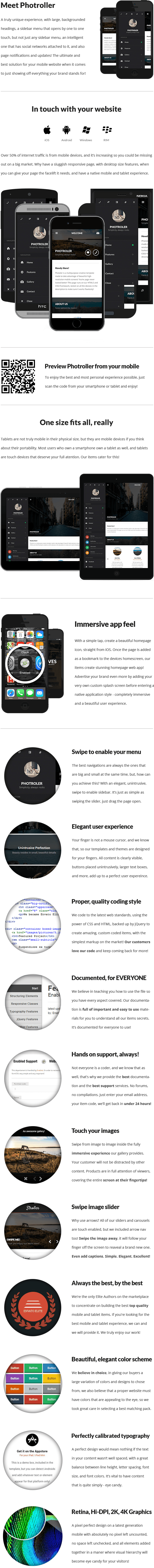 Photroller | Mobile & Tablet Responsive Template