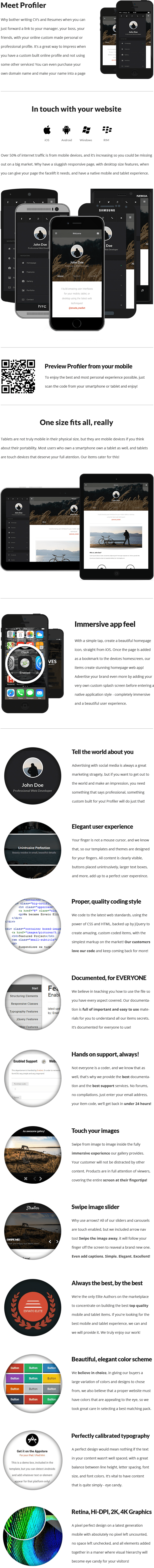 Profiler | Mobile & Tablet Responsive Template
