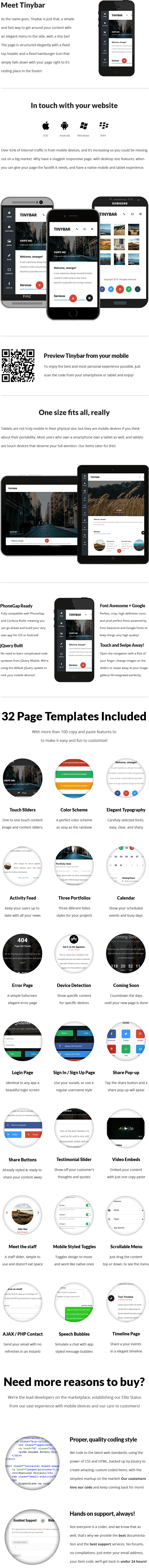 Tinybar | Mobile & Tablet Responsive Template