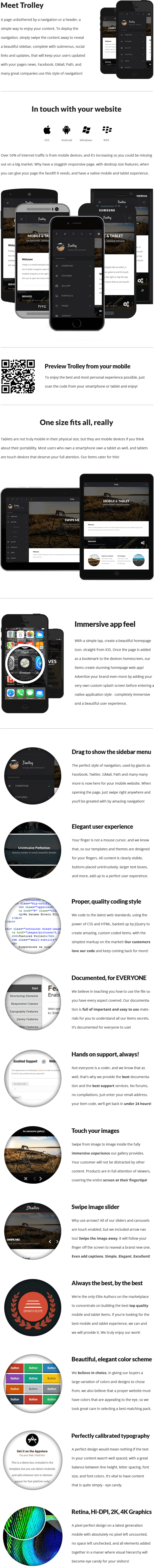 Trolley | Mobile & Tablet Responsive Template