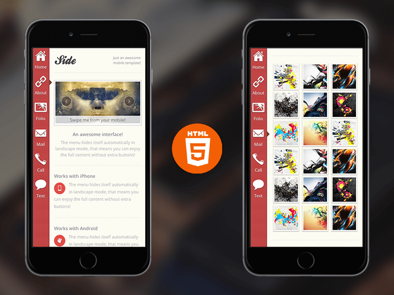 Freebie Friday Side Mobile Site Template Enabled - Html site template