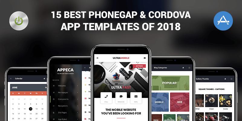 The Best PhoneGap Cordova App Templates Enabled - Phonegap templates