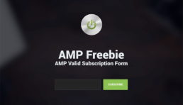 amp freebie subscription form
