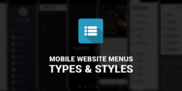 mobile website menus types and styles