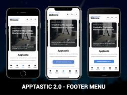apptastic 2.0 footer menu