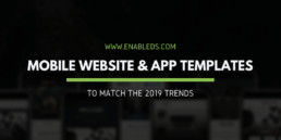 mobile website and app templates for 2019 design trends