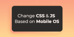 detect mobile os change css or javascript