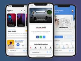 iOS15 Safari Tab Bar on our Mobile Kits & PWAs