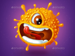 orange monster graphics