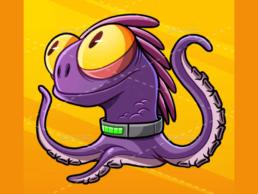 purple monster graphics