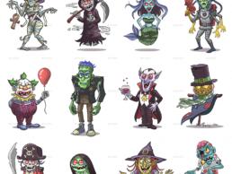 monster illustration pack